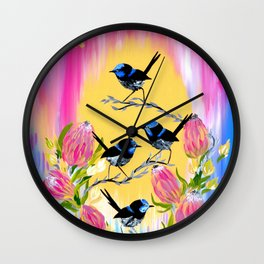 Australian Art Wall Clock
