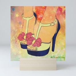 High heal shoes poster Mini Art Print