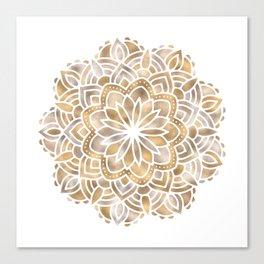 Mandala Multi Metallic in Gold Silver Bronze Copper Canvas Print