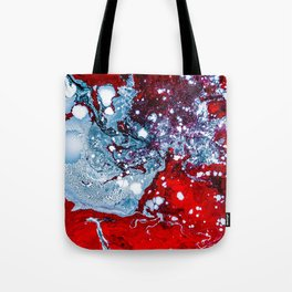 Red and Blue Texture (Color) Tote Bag