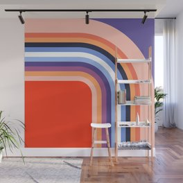 70s Stripes Rainbow 2 Wall Mural
