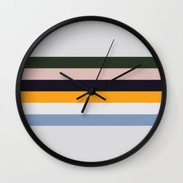 Paint Stripes Wall Clock