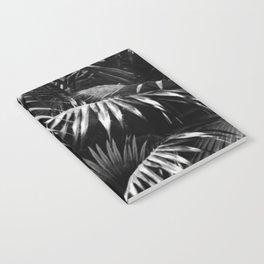 Tropical Botanic Jungle Garden Palm Leaf Black White Notebook