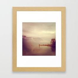 Annecy Un Lac Framed Art Print