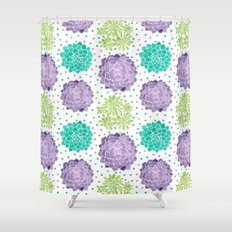 The Succulents Shower Curtain