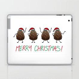 Dancing Christmas Pinecones | Festive | Winter Wonderland | pulps of wood Laptop & iPad Skin