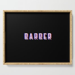 Barber Vintage Classic Barber Retro Distressed Gift Serving Tray