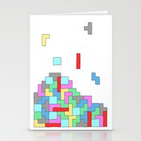 tetris Stationery Cards featuring Tetris by #dancingpenguin