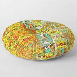 Peeling paint Floor Pillow