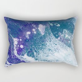 Purple and Teal Whisper Rectangular Pillow
