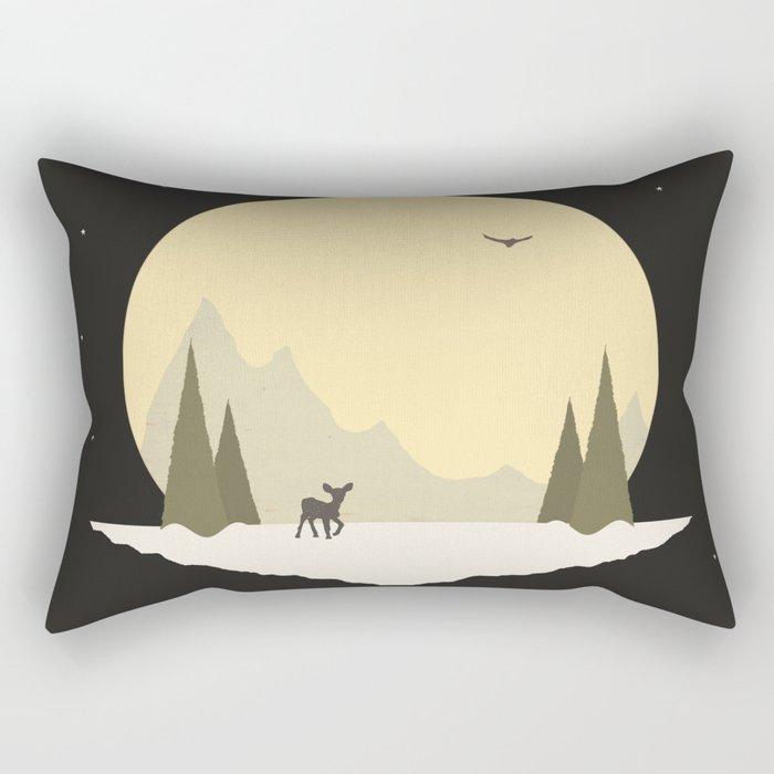 Wintertime (deer version) Rectangular Pillow
