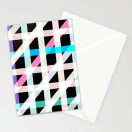 Weaving Soft Light in Black Stationery Cards