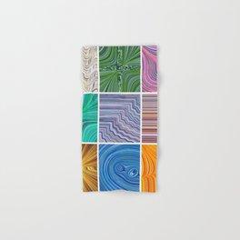Electric Field Art Collage Hand & Bath Towel