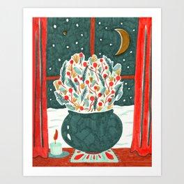 Winter Solstice Still Life by Amanda Laurel Atkins Art Print