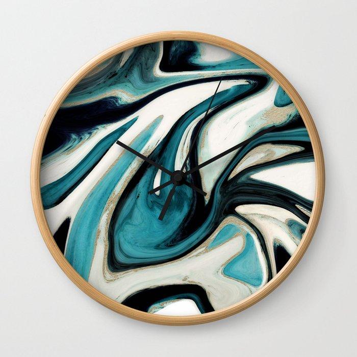 agate slice, geode art, geode agate, agate art, contemporary art, abstract geode, abstract art Wall Clock