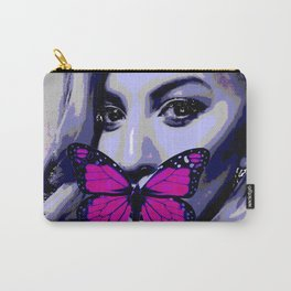 Blonde girl with pink butterfly Carry-All Pouch