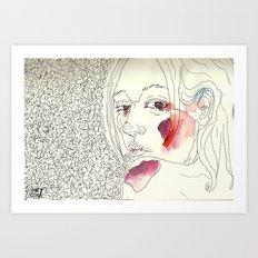 Over My Shoulder #1 Art Print