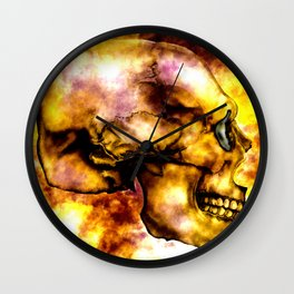 Fire and Skull Wall Clock