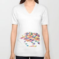 sprinkles V-neck T-shirts featuring Sprinkles by Dena Brender Photography