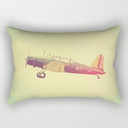Retro Antique Fighter Plane // Airplanes Rectangular Pillow