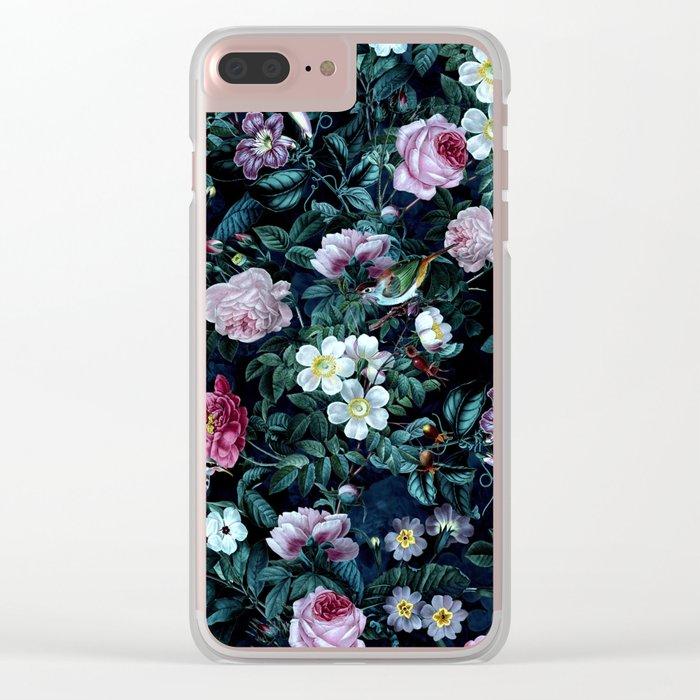 Blue Night Clear iPhone Case