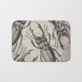 Grunge Style Stag Beetle Bath Mat