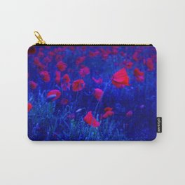 Red in Blue Carry-All Pouch