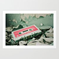 old school Art Prints featuring Old School  by Riot Jane