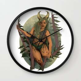Ancient Forest Faerie Goddess Wall Clock