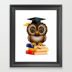 School Owl Framed Art Print