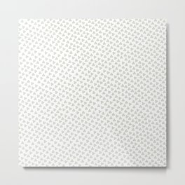 Green Triskele on White Pattern Metal Print