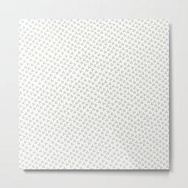 Green Triskele on White Pattern Metal Print