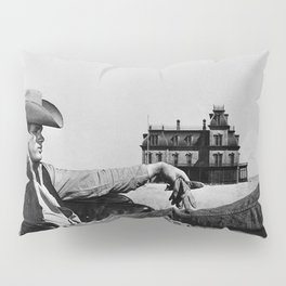 Mr. Dean in Cowboy Hat Classic Hollywood Iconic black and white photograph Pillow Sham