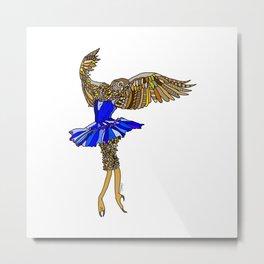 Owl Ballerina Tutu Metal Print