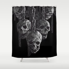Skulls In Chains Shower Curtain