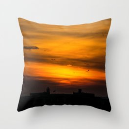 Brooklyn Sunset Throw Pillow