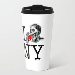 I Zombie Apocalypse New York Travel Mug
