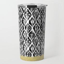 Black Gold Boho V Travel Mug