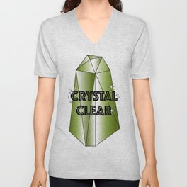 Crystal Clear– Green Unisex V-Neck