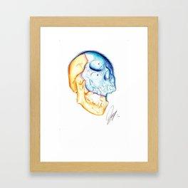 Ballpoint pen Non inverted Skull drawing Framed Art Print