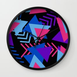 80s Memphis Pattern Wall Clock