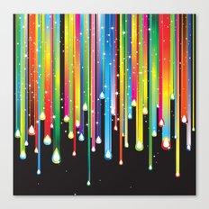 Rainbow Paint Drips Canvas Print