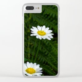 White Flower. Clear iPhone Case