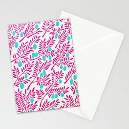 Olive Branches – Pink Ombré & Turquoise Stationery Cards