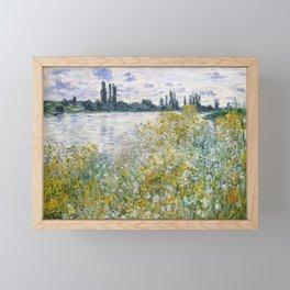 """Claude Monet """"Île aux Fleurs near Vétheuil"""" Framed Mini Art Print"""