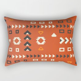 American native shapes in red Rectangular Pillow