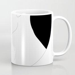 A Man Exhaling Blue Smoke Coffee Mug