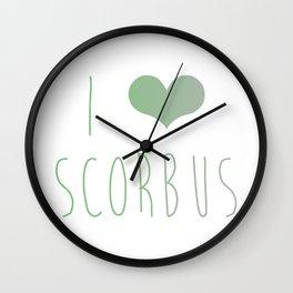 I Love Scorbus  Wall Clock