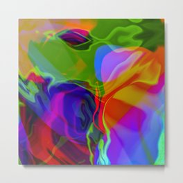 Digital Oil Slick Metal Print
