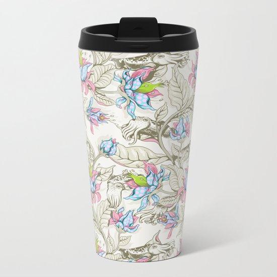 The Sea Garden - pastel Metal Travel Mug